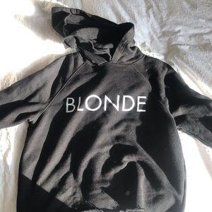 """Cropped """"blonde"""" hoodie"""